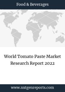 World Tomato Paste Market Research Report 2022