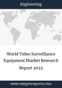 World Video Surveillance Equipment Market Research Report 2022